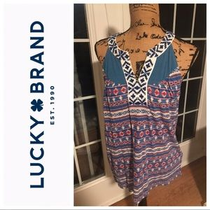 Lucky Brand Tank with Tribal Embroidery- NWT M
